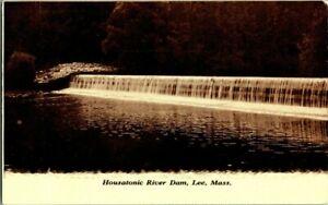 1920-LEE-MASS-HOUSATONIC-RIVER-DAM-POSTCARD-KK1