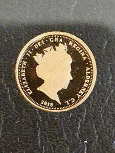 2018 gold quarter sovereign, uncirculated in desirable presentation case