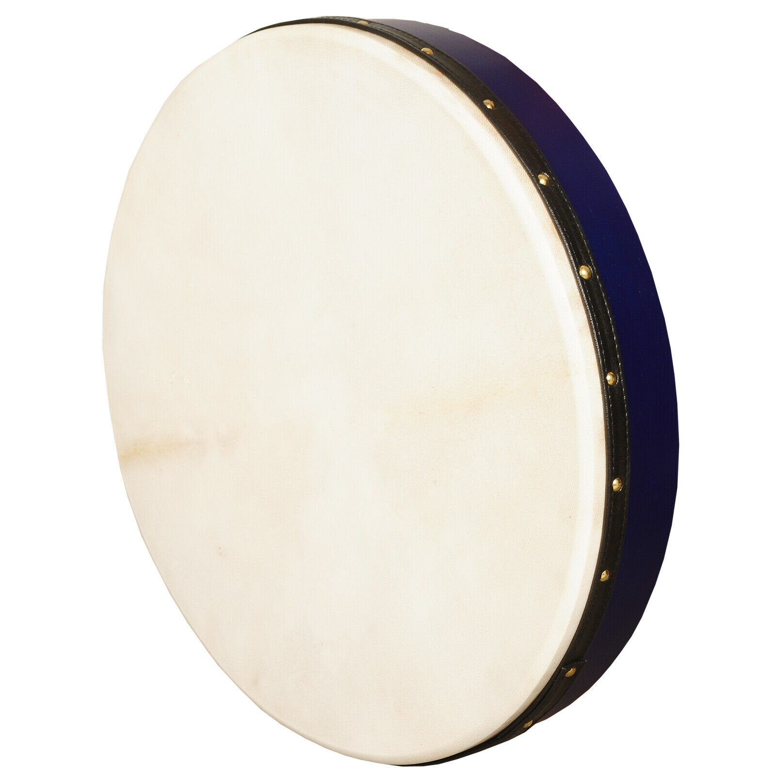 Muzikkon irish bodhran 18  X3 Fixed Head Pretuned Bodhran Blau Cross Stick