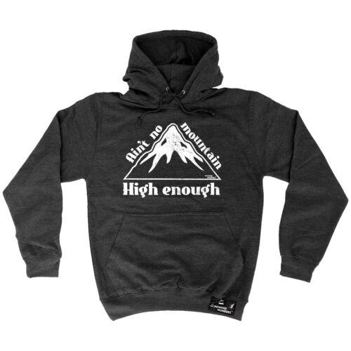 Nessuna MONTAGNA troppo elevate in polvere Monkeez UK Felpa Con Cappuccio Compleanno Sci Snowboard