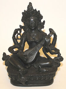 Image Is Loading Resin Statue Saraswati Buddha Home Decor Hand Craved