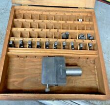 Ideal Numberall No 23 Type Numbering Steel Stamp With Arbor Press Shank