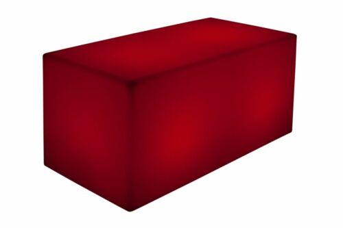 LED Bank 120x40cm beleuchtet Farbwechsel Fernbed Sitzbank Luminatos QUADER 120