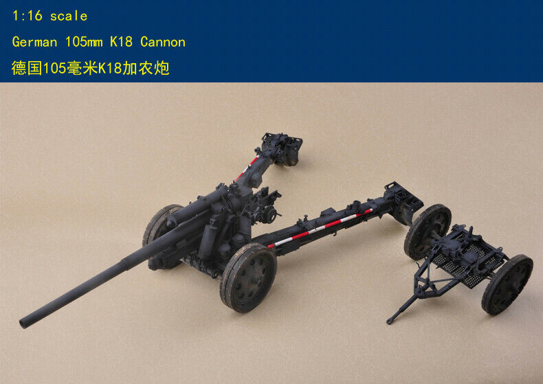 Merit 61601 1 16 Scale German 105mm K18 Cannon Gunmodel kit