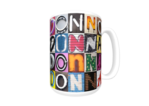 Cup featuring the name in photos of actual sign letters Details about  /DONOVAN Coffee Mug