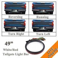 49 Running/brake/reverse/signal Led Tailgate Tail Light Bar Strip For Truck Suv