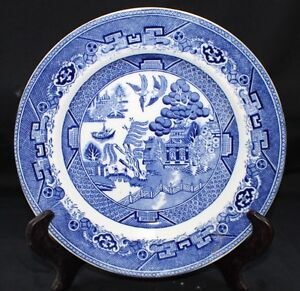 Image is loading Vintage-ADDERLEY-WARE-Blue-OLD-WILLOW-Dinner-Plate  sc 1 st  eBay : blue willow dinner plates - pezcame.com
