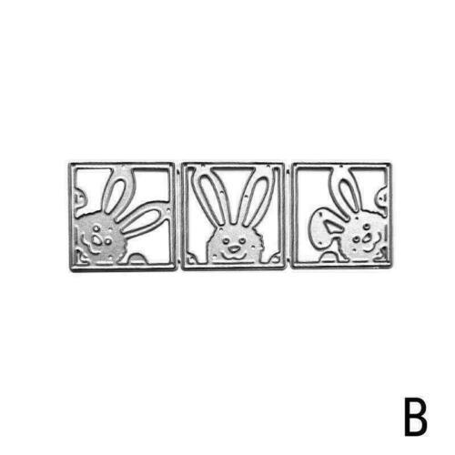 Easter Rabbit Metal Cutting Die Scrapbook Embossing L0C0 Gif Card Stencil I6B8