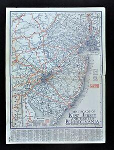 Details about 1930 Clason Road Map New Jersey Philadelphia Pennsylvania on mi road map, philadelphia road map, nj road map, us population map, wny road map, pittsburgh road map, charlotte road map, new york toll roads map, syracuse road map, manhattan road map, phoenix road map, houston road map, bronx road map, brooklyn road map, washington road map, adirondacks road map, ny road test, new york highway map, ny road atlas, london road map,