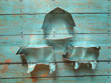 Farm Cookie Cutter Set -  Barn, pig cow - Birthday, Baby Shower