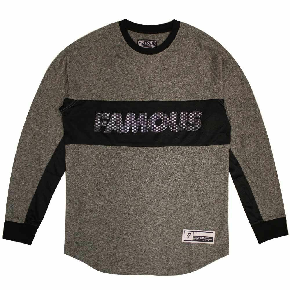 Famous Stars and Straps Whip Long Sleeve T-shirt black grey