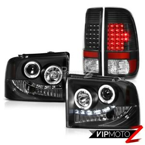 Image Is Loading Halo Headlights Front Lamp Led Bulbs Tail Lights