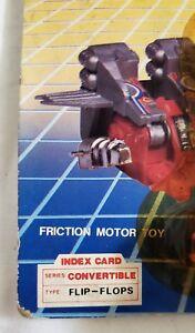 0aeee000d5a9d RARE Vintage Transistor Robot Code Name  Flip Flop. 1985 Black Red ...