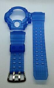 For-G-shock-Rangeman-gw9400-blue-matte-jelly-bezel-and-strap