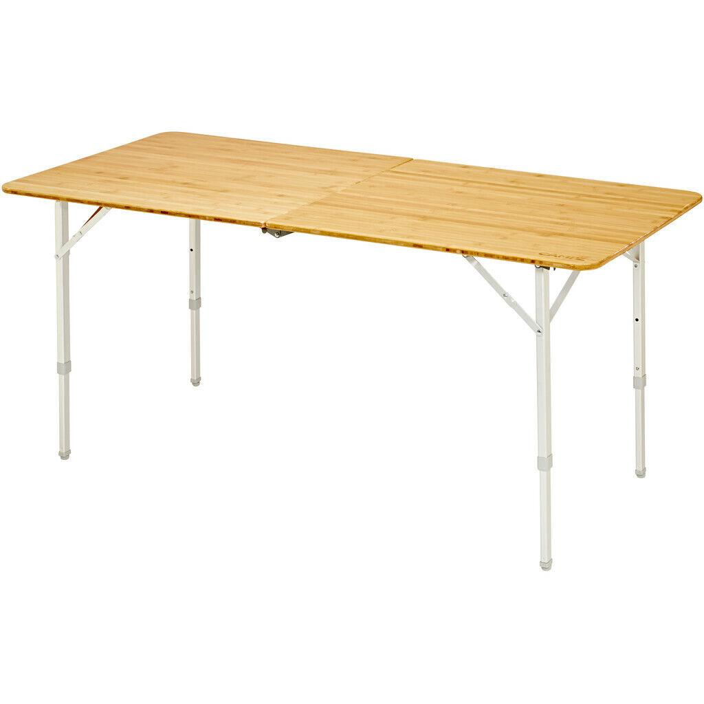 CAMPZ Bamboo Folding Table 150x70x70cm braun 2019 Campingtisch