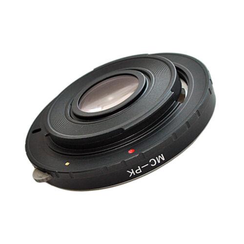 Adaptador del objetivo con lente de corrección puerto Minolta mc en Pentax K cámara