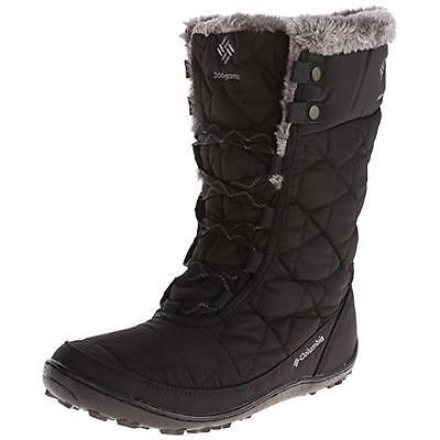 Columbia 7796 Womens Minx Mid II Omni-Heat Black Winter Boots Outerwear 5 BHFO