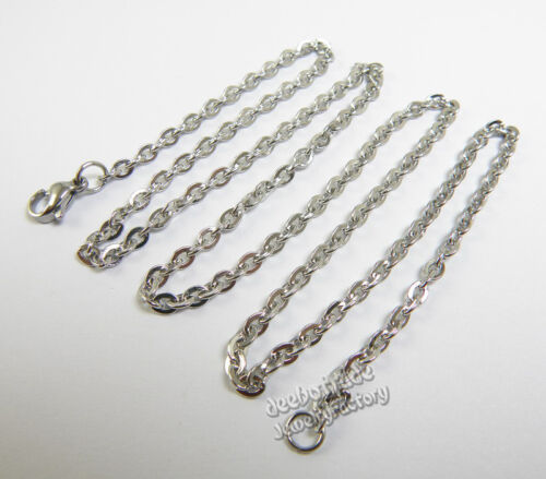 """Wholesale 12pcs 2mm 316L Stainless Steel Oval Chain Jewelry Necklace 16/""""-30/"""""""
