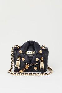 003e00e5ed5af7 Moschino x H&M Biker jacket leather bag. Limited edition | eBay
