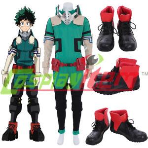 Details About New My Hero Academia Izuku Midoriya Cosplay Costume Deku Battle Outfit Costume