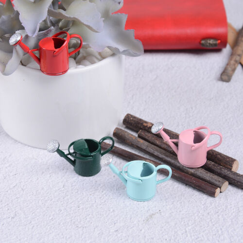 1//12 Metal Watering Can Garden miniature Decoration for Children Kids Dolls FEH