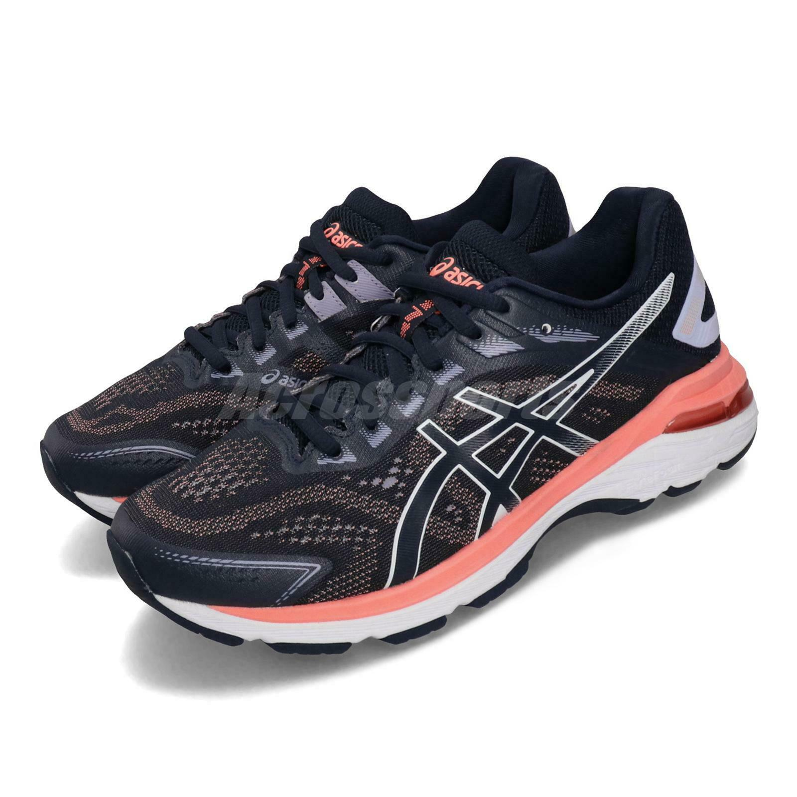 Asics GT2000 7 D Wide Midnight Navy Coral donna correrening sautope 1012A146402