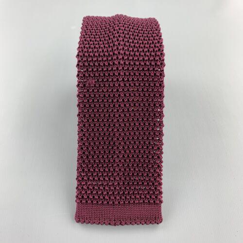 BUDD Raspberry Silk Textured Knit Tie