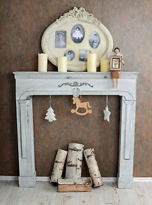 kaminsims deko kamin attrappe kaminumrandung landhausstil ebay. Black Bedroom Furniture Sets. Home Design Ideas