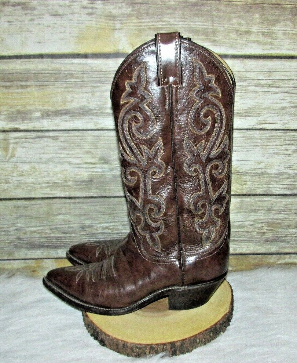 Justin Brown Genuine Leather Western Roper Riding Mid Calf Calf Calf Cowboy Boots 6.5 B b6679a
