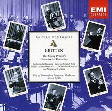 Britten: Guida Del Giovane All'Orchestra / Simon Rattle, Birmingham S.O.- CD Emi