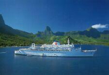 RPC American Hawaii Cruises LIBERTE seen in Moorea rare !!!!