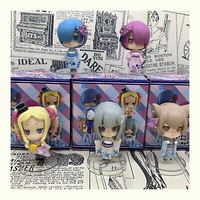 Zero Starting Life in Another World Rem Ram Emilia Mini PVC Figure 5pcs//set Re