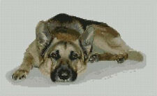 German Shepherd Counted Cross Stitch Kit 10.5x5.5 D2126
