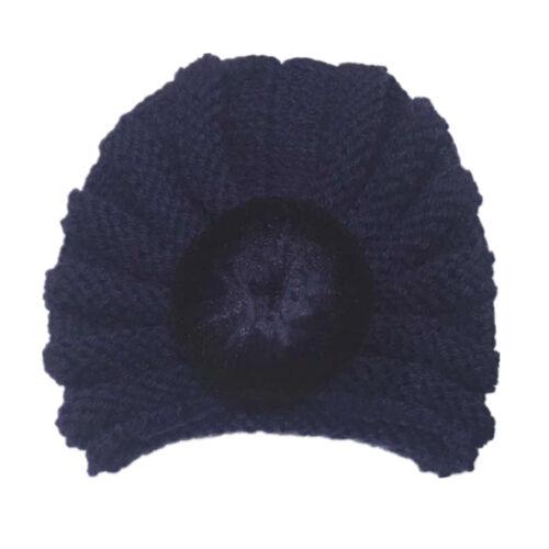 Newborn Baby Unisex Boy Girl Knitted Turban Hat Winter Warm Beanie Headwear Cap