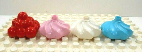 Multi Color 4 Lego Duplo Item Cupcake Toppings