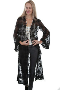 Scully-Women-039-s-Open-Front-Lace-Cardigan-HC406