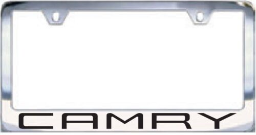 Toyota 2018 Camry Chrome License Plate Frame Engraved Block Letters