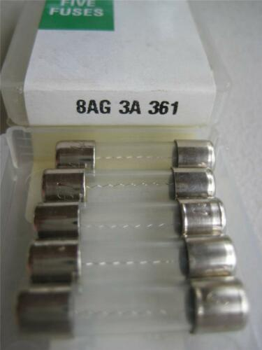 "5X Littelfuse Fuse 361 3//4 1-1//2 2 3 4 5 Amp 8AG /""NOS/"" 250 VAC 1//4 x 1/"""