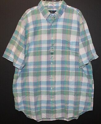 Amiable Polo Ralph Lauren Big And Tall Mens Green Plaid Indian Madras S/s Shirt Nwt 2xlt Distinctive For Its Traditional Properties Clothing, Shoes & Accessories Men's Clothing