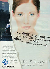 Publicité Advertising 1997  VOLKSWAGEN GOLF MATCH II  shi sankyo  VW