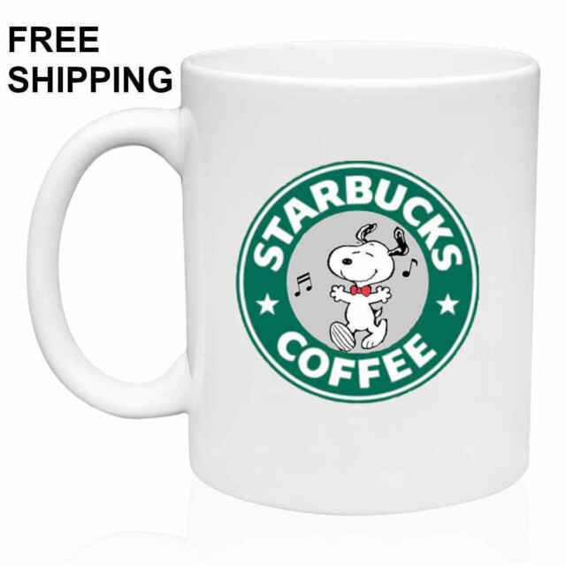 Snoopy,Starbucks Coffee, , Birthday, Christmas Gift, White Mug 11 oz, Coffee/Tea
