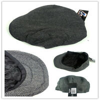 Vintage Newsboy Cabbie Gatsby Hat Flat Ivy Cap Golf Tweed Wool Driving Beret Hat