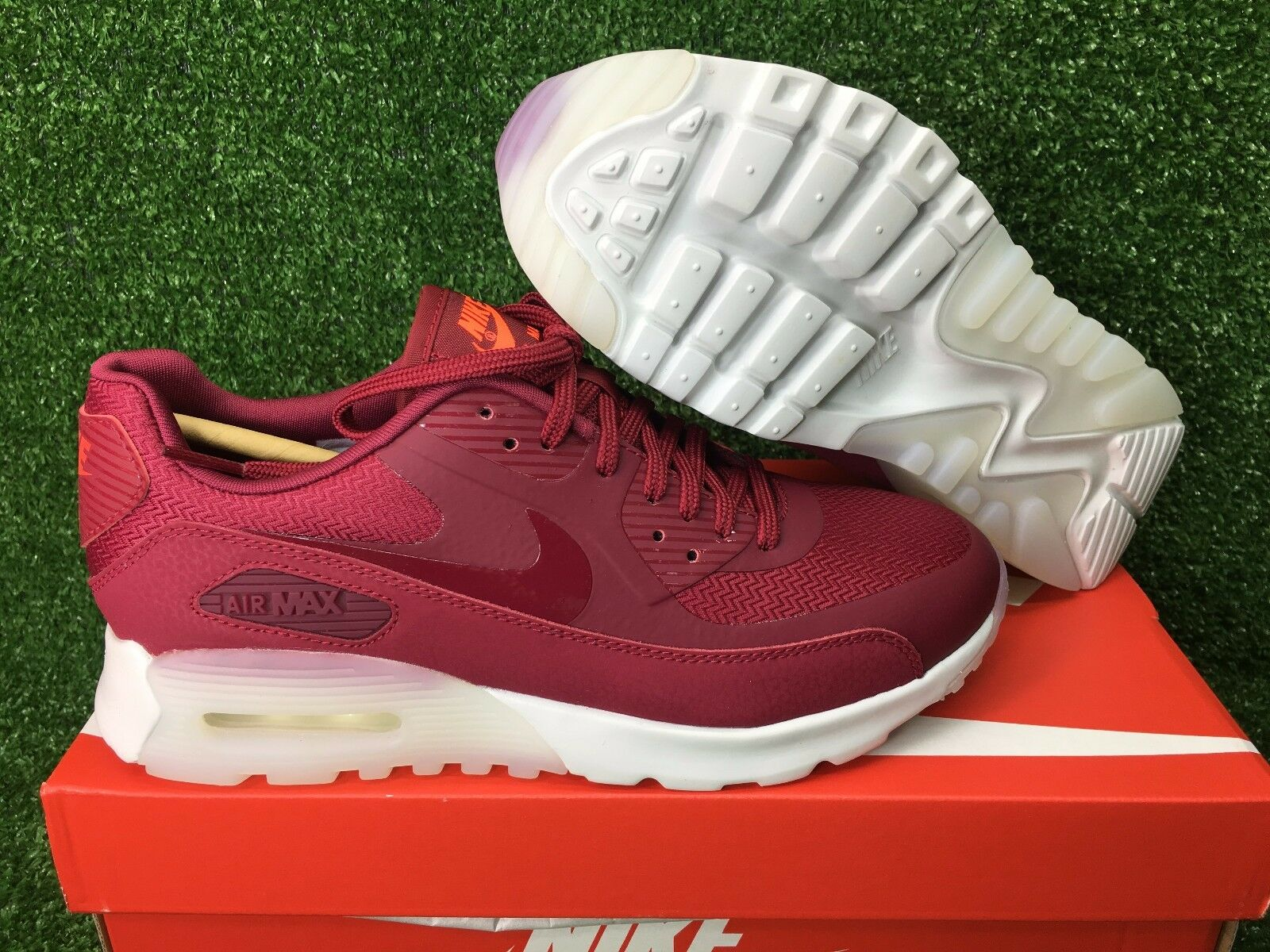 NEW WMNS NIKE AIR MAX 90 ULTRA WOMEN'S RUNNING SHOES NOBLE RED WHITE 845110-600