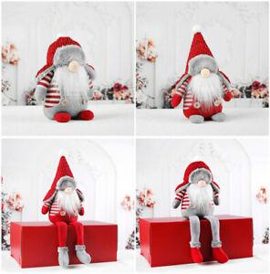 Nordic Santa Gonk Scandi Christmas Gnome Elf Doll Xmas Tree Hanging Decoration