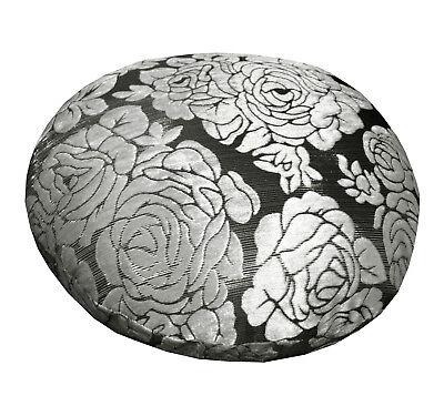 mq06a Silver Metallic Black Ash Grey Rose Shimmer Velvet Style Cushion Cover