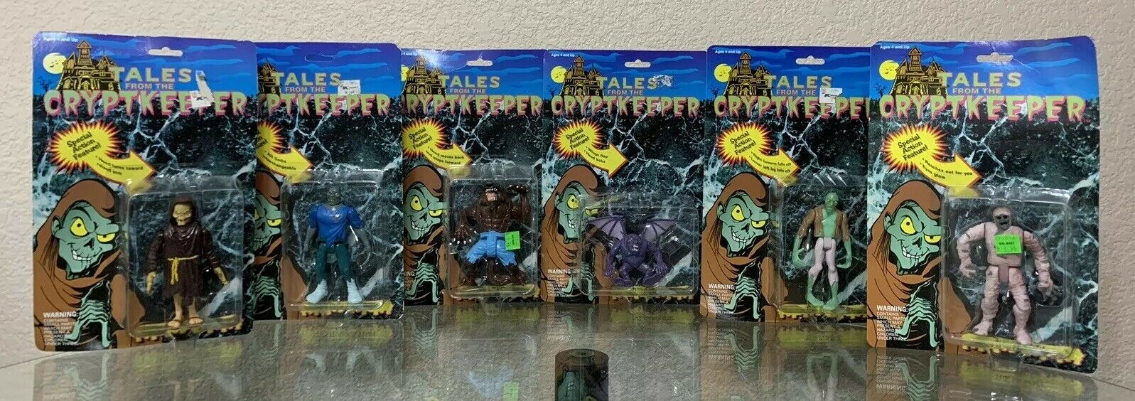 Tales From The Crypt Action Figure- Lot of SIX (6) Figures - Ace Novelty 1993