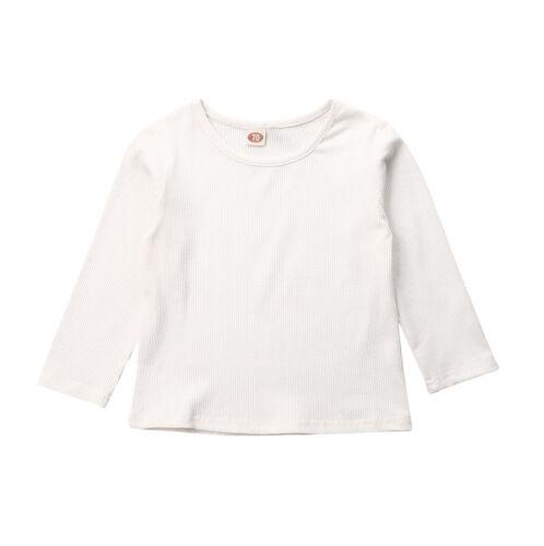UK Newborn Kid Baby Boy Girl Stripe Clothes Long Sleeve Tops T-Shirt Sweatshirts