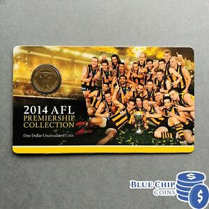 2014 AFL HAWTHORN PREMIERS  $1 UNC MINT COIN NOT ISSUED FOR CIRCULATION