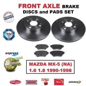 Mazda MX5 1.6 1.8 mk2 98- Front brake discs /& pads set MX-5 255mm vented disc