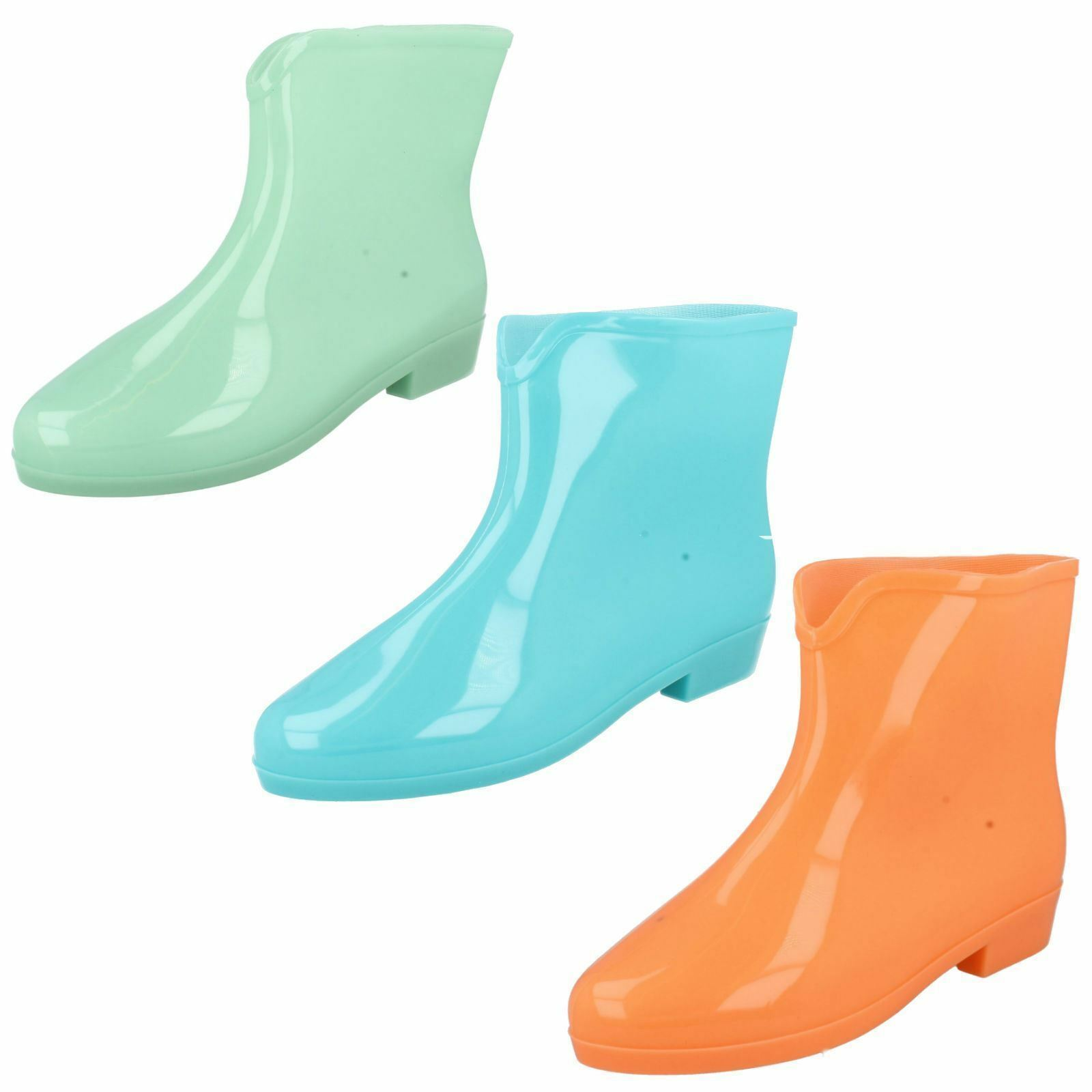 Ladies Glow in the Dark Ankle Wellies Wellington Boots Boots Boots in 3 Colours X1197 d4c455